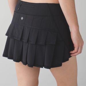 LULULEMON Black Run Pace Setter Skirt Skort